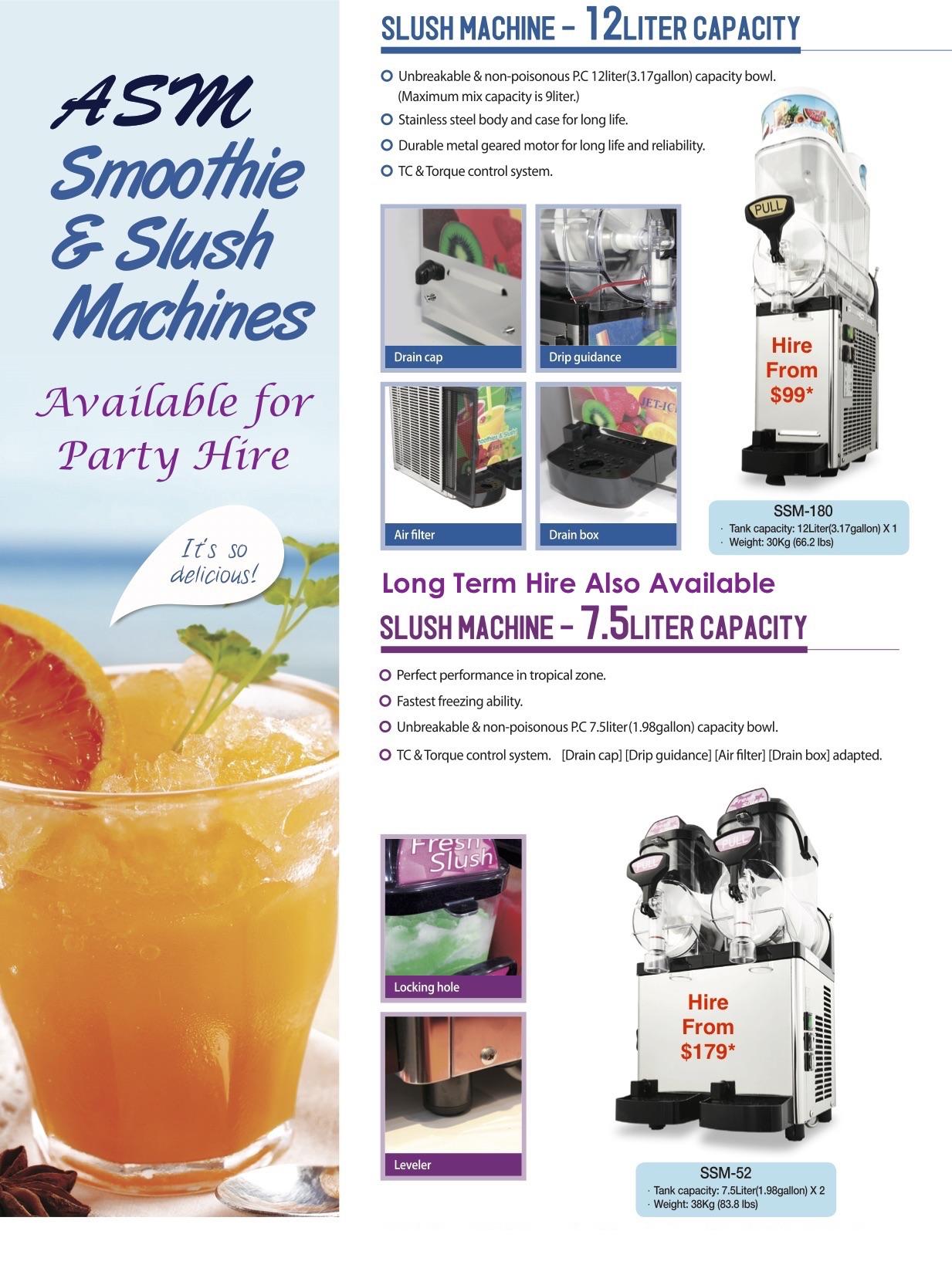 slush machine for rent